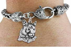 <bR>                   EXCLUSIVELY OURS!!<BR>             AN ALLAN ROBIN DESIGN!!<BR>                 LEAD & NICKEL FREE!!<BR>W1354SAK - DETAILED COUGAR WITH <BR> CLEAR CRYSTALS CHARM  <BR>    ON HEART LOBSTER CLASP BRACELET <Br>         FROM $5.63 TO $12.50 �2012