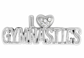"<BR>             ""EXCLUSIVELY OURS""<bR>          AN ALLAN ROBIN DESIGN<Br>             LEAD & NICKEL FREE!! <Br>W13706P - ""I LOVE GYMNASTICS"" PIN <br>       AS LOW AS $5.55"