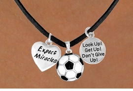 "<BR>          ""EXCLUSIVELY OURS""<bR>      AN ALLAN ROBIN DESIGN<Br>          LEAD & NICKEL FREE!!<Br>W13832N - ""EXPECT MIRACLES""<br>    & ""DON'T GIVE UP"" SOCCER<br>    NECKLACE AS LOW AS $5.30"