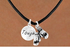 "<BR>                  ""EXCLUSIVELY OURS""<bR>              AN ALLAN ROBIN DESIGN<Br>                 LEAD & NICKEL FREE!!<Br>     W13841N - ""TOUGH"" & BOXING<br>GLOVES NECKLACE AS LOW AS $4.50"