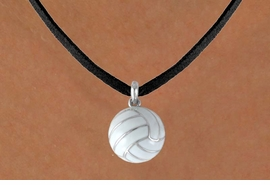 "<BR>           ""EXCLUSIVELY OURS""<bR>       AN ALLAN ROBIN DESIGN<Br>          LEAD & NICKEL FREE!!<Br>W13905N - VOLLEYBALL CHARM<br>    ON BLACK SUEDE NECKLACE<br>                AS LOW AS $4.15"