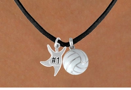 "<BR>      ""EXCLUSIVELY OURS""<bR>  AN ALLAN ROBIN DESIGN<Br>      LEAD & NICKEL FREE!!<Br>W13913N - ""#1"" STAR MAN<br> & VOLLEYBALL NECKLACE<br>            AS LOW AS $4.50"