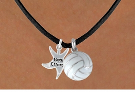 "<BR>           ""EXCLUSIVELY OURS""<bR>       AN ALLAN ROBIN DESIGN<Br>             LEAD & NICKEL FREE!!<Br>W13914N - ""100% EFFORT"" STAR<br>  MAN & VOLLEYBALL NECKLACE<BR>                  AS LOW AS $4.50"