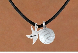 "<BR>       ""EXCLUSIVELY OURS""<bR>   AN ALLAN ROBIN DESIGN<Br>      LEAD & NICKEL FREE!!<Br>W13915N - ""WINNER"" MAN<Br>  & VOLLEYBALL NECKLACE<BR>            AS LOW AS $4.50"