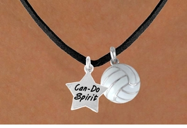"<BR>         ""EXCLUSIVELY OURS""<bR>       AN ALLAN ROBIN DESIGN<Br>          LEAD & NICKEL FREE!!<Br>   W13916N - ""CAN-DO SPIRIT""<br>STAR & VOLLEYBALL NECKLACE<br>                AS LOW AS $4.50"