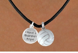 "<BR>           ""EXCLUSIVELY OURS""<bR>       AN ALLAN ROBIN DESIGN<Br>           LEAD & NICKEL FREE!!<Br> W13917N - ""GUARDIAN ANGEL""<br> DISC & VOLLEYBALL NECKLACE<br>                 AS LOW AS $4.50"