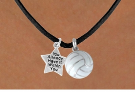"<BR>           ""EXCLUSIVELY OURS""<bR>       AN ALLAN ROBIN DESIGN<Br>            LEAD & NICKEL FREE!!<Br>W13918N - ALREADY WITHIN YOU<br>  STAR & VOLLEYBALL NECKLACE<BR>                 AS LOW AS $4.50"