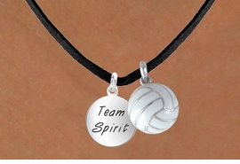 "<BR>      ""EXCLUSIVELY OURS""<bR>  AN ALLAN ROBIN DESIGN<Br>    LEAD & NICKEL FREE!!<Br>W13926N - ""TEAM SPIRIT""<br>& VOLLEYBALL NECKLACE<br>          AS LOW AS $4.50"