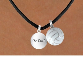 "<BR>      ""EXCLUSIVELY OURS""<bR>  AN ALLAN ROBIN DESIGN<Br>       LEAD & NICKEL FREE!!<Br>W13927N - ""THE BEST"" DISC<br>   & VOLLEYBALL NECKLACE<br>             AS LOW AS $4.50"