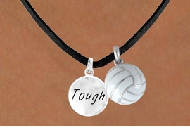 "<BR>        ""EXCLUSIVELY OURS""<bR>    AN ALLAN ROBIN DESIGN<Br>       LEAD & NICKEL FREE!!<Br>W13928N - ""TOUGH"" DISC &<br>     VOLLEYBALL NECKLACE<br>             AS LOW AS $4.50"