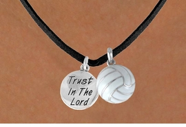 "<BR>             ""EXCLUSIVELY OURS""<bR>         AN ALLAN ROBIN DESIGN<Br>            LEAD & NICKEL FREE!!<Br>W13932N - ""TRUST IN THE LORD""<br>       & VOLLEYBALL NECKLACE<br>                 AS LOW AS $4.50"