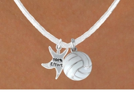 "<BR>            ""EXCLUSIVELY OURS""<bR>        AN ALLAN ROBIN DESIGN<Br>            LEAD & NICKEL FREE!!<Br>W13943N - ""100% EFFORT"" STAR<br>       MAN & WHITE VOLLEYBALL<BR>      NECKLACE AS LOW AS $4.50"