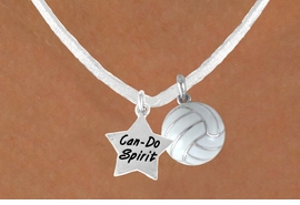 "<BR>               ""EXCLUSIVELY OURS""<bR>           AN ALLAN ROBIN DESIGN<Br>              LEAD & NICKEL FREE!!<Br>W13945N - ""CAN-DO SPIRIT"" STAR<br>  & WHITE VOLLEYBALL NECKLACE<br>                   AS LOW AS $4.50"