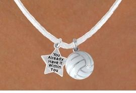 "<BR>            ""EXCLUSIVELY OURS""<bR>        AN ALLAN ROBIN DESIGN<Br>            LEAD & NICKEL FREE!!<Br>W13947N - ALREADY WITHIN YOU<br>      STAR & WHITE VOLLEYBALL<BR>     NECKLACE AS LOW AS $4.50"