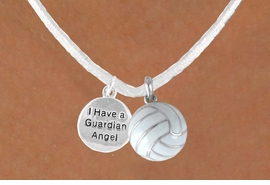 "<BR>            ""EXCLUSIVELY OURS""<bR>        AN ALLAN ROBIN DESIGN<Br>            LEAD & NICKEL FREE!!<Br> W13948N - ""GUARDIAN ANGEL""<br>      DISC & WHTIE VOLLEYBALL<br>     NECKLACE AS LOW AS $4.50"