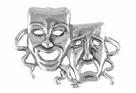 <Br>           EXCLUSIVELY OURS!!<br>      AN ALLAN ROBIN DESIGN<br>          LEAD & NICKEL FREE!!<bR>W14084P - DRAMA MASK PIN<Br>               AS LOW AS $3.68