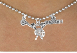 "<BR>        ""EXCLUSIVELY OURS""<bR>     AN ALLAN ROBIN DESIGN<Br>        LEAD & NICKEL FREE!!<Br>W14265N - LACROSSE COACH<Br>& WHISTLE CHARM NECKLACE<br>             AS LOW AS $4.16"