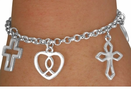<Br>              EXCLUSIVELY OURS!!!<Br>         AN ALLAN ROBIN DESIGN!!<BR>              LEAD & NICKEL FREE!!<BR>     W14332B - RELIGIOUS MULTI<BR>CHARM LOBSTER CLASP BRACELET<Br>              FROM $5.63 TO $12.50<BR>                               �2008