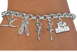<Br>            EXCLUSIVELY OURS!!<Br>      AN ALLAN ROBIN DESIGN!!<Br>           LEAD & NICKEL FREE!!<Br> W14354B - DANCE THEMED FIVE<BR>      CHARM BRACELET FOR $8.61