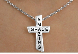 "<Br>            EXCLUSIVELY OURS!!!<Br>       AN ALLAN ROBIN DESIGN!!<Br>            LEAD & NICKEL FREE!!<BR>  W14362NE - ""AMAZING GRACE""<br>CROSS NECKLACE & EARRING SET<Br>          FROM $6.75 TO $15.00<BR>                 �2009 CineCorp"