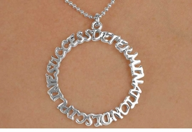 "<Br>          EXCLUSIVELY OURS!!<Br>    AN ALLAN ROBIN DESIGN!!<Br>         LEAD & NICKEL FREE!!<Br>W14666N - ""DETERMINATION,<BR>DISCIPLINE, SUCCESS"" CIRCLE<bR>   NECKLACE AS LOW AS $3.65"