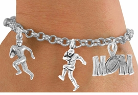 "<Br>          EXCLUSIVELY OURS!!<Br>     AN ALLAN ROBIN DESIGN!!<Br>         LEAD & NICKEL FREE!!<Br>W14739B - ""FOOTBALL MOM""<Br>  5-CHARM CHAIN BRACELET<Br>        FROM $7.31 TO $16.25"