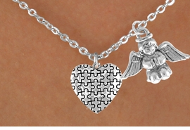 <bR>                EXCLUSIVELY OURS!!<Br>          AN ALLAN ROBIN DESIGN!!<BR>               LEAD & NICKEL FREE!!<BR>        W16005N - PRAYING ANGEL<Br>      & AUTISM AWARENESS HEART<Br>            NECKLACE ©2010 FROM<bR>                      $4.85 TO $8.50