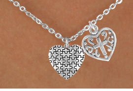 <bR>             EXCLUSIVELY OURS!!<Br>       AN ALLAN ROBIN DESIGN!!<BR>            LEAD & NICKEL FREE!!<BR>W16007N - HEART WITH CROSS &<Br>      AUTISM AWARENESS HEART<Br>          NECKLACE ©2010 FROM<bR>                    $4.85 TO $8.50
