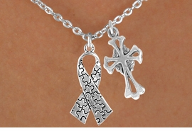 <bR>                EXCLUSIVELY OURS!!<Br>          AN ALLAN ROBIN DESIGN!!<BR>               LEAD & NICKEL FREE!!<BR>        W16014N - ELEGANT CROSS<Br>    & AUTISM AWARENESS RIBBON<Br>             NECKLACE ©2010 FROM<bR>                        $4.85 TO $8.50