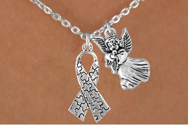 <bR>                EXCLUSIVELY OURS!!<Br>          AN ALLAN ROBIN DESIGN!!<BR>               LEAD & NICKEL FREE!!<BR>       W16015N - GUARDIAN ANGEL<Br>    & AUTISM AWARENESS RIBBON<Br>            NECKLACE ©2010 FROM<bR>                       $4.85 TO $8.50