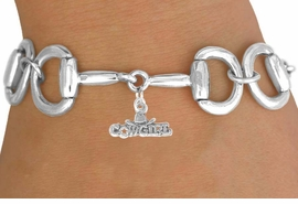 "<Br>            EXCLUSIVELY OURS!!<Br>      AN ALLAN ROBIN DESIGN!!<Br>           LEAD & NICKEL FREE!!<Br>W16327B - BIT-LINK BRACELET<Br>    & ""COWGIRL"" CHARM FROM<Br>          $7.85 TO $17.50 ©2010"