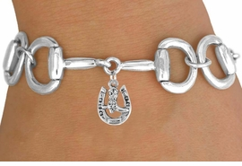 <Br>              EXCLUSIVELY OURS!!<Br>        AN ALLAN ROBIN DESIGN!!<Br>             LEAD & NICKEL FREE!!<Br> W16328B - BIT-LINK BRACELET<Br>& HORSESHOE AND BOOT CHARM<Br>    FROM $7.85 TO $17.50 ©2010