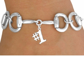 "<Br>            EXCLUSIVELY OURS!!<Br>      AN ALLAN ROBIN DESIGN!!<Br>           LEAD & NICKEL FREE!!<Br>W16331B - BIT-LINK BRACELET<Br>            & ""#1"" CHARM FROM<bR>         $7.85 TO $17.50 ©2010"
