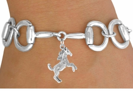 <Br>              EXCLUSIVELY OURS!!<Br>       AN ALLAN ROBIN DESIGN!!<Br>             LEAD & NICKEL FREE!!<Br> W16332B - BIT-LINK BRACELET<Br> & WILD STALLION CHARM FROM<Br>           $7.85 TO $17.50 ©2010