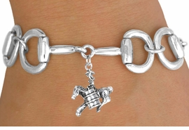 <Br>              EXCLUSIVELY OURS!!<Br>        AN ALLAN ROBIN DESIGN!!<Br>             LEAD & NICKEL FREE!!<Br>W16333B - BIT-LINK BRACELET &<Br> 3-D BARREL RACER CHARM FROM<Br>            $7.85 TO $17.50 ©2010