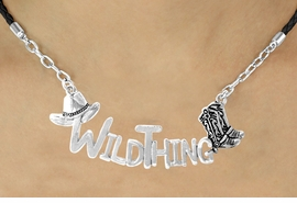 "<BR>                     EXCLUSIVELY OURS!!<Br>               AN ALLAN ROBIN DESIGN!!<bR>                    LEAD & NICKEL FREE!!<Br>     W16356N - WESTERN ""WILD THING""<Br>  MARQUEE PENDANT & BLACK BRAIDED<Br>NECKLACE FROM $7.85 TO $17.50 ©2010"