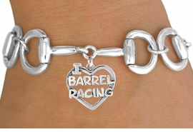 "<Br>              EXCLUSIVELY OURS!!<Br>        AN ALLAN ROBIN DESIGN!!<Br>             LEAD & NICKEL FREE!!<Br>  W16392B - BIT-LINK BRACELET<Br>& ""I LOVE HORSES"" CHARM FROM<Br>            $7.85 TO $17.50 ©2010"