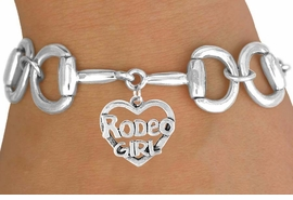 "<Br>            EXCLUSIVELY OURS!!<Br>      AN ALLAN ROBIN DESIGN!!<Br>           LEAD & NICKEL FREE!!<Br>W16394B - BIT-LINK BRACELET<Br> & ""RODEO GIRL"" CHARM FROM<Br>          $7.85 TO $17.50 ©2010"
