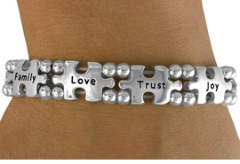<bR>                 EXCLUSIVELY OURS!!<Br>          AN ALLAN ROBIN DESIGN!!<Br>               LEAD & NICKEL FREE!!<Br>W16446B - INSPIRATIONAL AUTISM<Br>AWARENESS PUZZLE PIECE STRETCH<Br>             BRACELET ©2010 FROM<bR>                      $7.85 TO $17.50