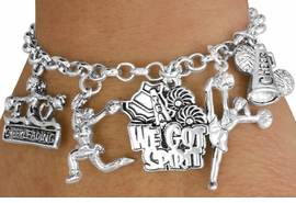 <Br>                            EXCLUSIVELY OURS!!<Br>                      AN ALLAN ROBIN DESIGN!!<Br>                   LEAD, CADMIUM, & NICKEL FREE!!<Br>                  W18042B - CHEER THEME FIVE<BR>CHARM BRACELET FROM $7.31 TO $16.25  �2011