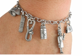 <Br>                EXCLUSIVELY OURS!!<Br>          AN ALLAN ROBIN DESIGN!!<Br>               LEAD & NICKEL FREE!!<Br> W18758B - NURSE THEME SIX CHARM <BR>BRACELET FROM $10.69 TO $23.75 �2012