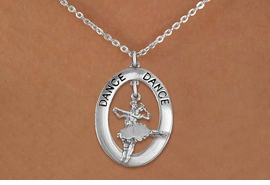 "<bR>                    EXCLUSIVELY OURS!! <BR>               AN ALLAN ROBIN DESIGN!!<BR>                  LEAD & NICKEL FREE!! <BR>  W20004N -  SILVER TONE ""DANCE"" OVAL <BR> WITH SILVER TONE DANCING BALLET COUPLE <BR>       CHARM ON CHAIN LINK NECKLACE <BR>           FROM $5.85 TO $13.00 �2013"