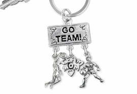 "<Br>                EXCLUSIVELY OURS!! <Br>           AN ALLAN ROBIN DESIGN!! <Br>              LEAD & NICKEL FREE!! <BR> W20127KC - SILVER TONE ""GO TEAM!"" <BR> DUNKER, ""TEAM MOM"", AND PLAYER CHARMS <BR> WOMENS BASKETBALL THEMED KEY RING <BR>         FROM $6.41 TO $14.25 �2013"