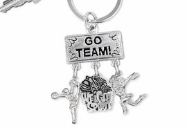 "<Br>                 EXCLUSIVELY OURS!! <Br>            AN ALLAN ROBIN DESIGN!! <Br>               LEAD & NICKEL FREE!! <BR>  W20135KC - SILVER TONE ""GO TEAM!"" <BR>  CHEERLEADING THEMED KEY RING WITH <BR>   ""WE GOT SPIRIT"" AND CHEERLEADERS <BR>          FROM $6.41 TO $14.25 �2013"