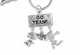 "<Br>                 EXCLUSIVELY OURS!! <Br>            AN ALLAN ROBIN DESIGN!! <Br>               LEAD & NICKEL FREE!! <BR>  W20136KC - SILVER TONE ""GO TEAM!"" <BR>  CHEERLEADING THEMED KEY RING WITH <BR> ""GO TEAM"" MEGAPHONE & CHEERLEADERS <BR>          FROM $6.41 TO $14.25 �2013"