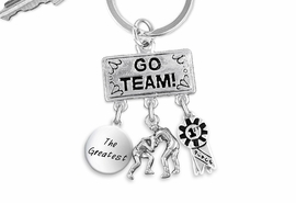 "<Br>                EXCLUSIVELY OURS!! <Br>           AN ALLAN ROBIN DESIGN!! <Br>              LEAD & NICKEL FREE!! <BR> W20162KC - SILVER TONE ""GO TEAM!"" <BR>    WRESTLING THEMED KEY RING WITH <BR> ""THE GREATEST"", WRESTLERS & 1st MEDAL <BR> CHARMS FROM $6.41 TO $14.25 �2013"