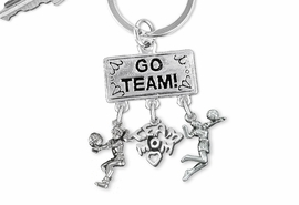 "<Br>                EXCLUSIVELY OURS!! <Br>           AN ALLAN ROBIN DESIGN!! <Br>              LEAD & NICKEL FREE!! <BR> W20205KC - SILVER TONE ""GO TEAM!"" <BR>   VOLLEYBALL THEMED KEY RING WITH <BR>  BUMP, ""TEAM MOM"" & SERVE CHARMS <BR>        FROM $6.41 TO $14.25 �2013"
