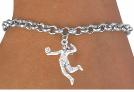 """<bR>             EXCLUSIVELY OURS!!<Br>       AN ALLAN ROBIN DESIGN!!<bR>            LEAD & NICKEL FREE!!<BR>W356SB - """"VOLLEYBALL SERVE""""<Br>   & BRACELET AS LOW AS $4.50"""