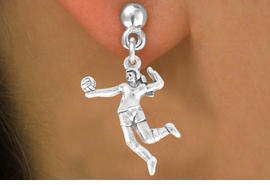 "<bR>            EXCLUSIVELY OURS!!<Br>      AN ALLAN ROBIN DESIGN!!<Br>           LEAD & NICKEL FREE!!<BR>W356SE - ""VOLLEYBALL SERVE""<Br>  & EARRINGS FROM $4.50 TO $8.35"