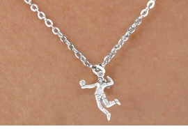 "<bR>            EXCLUSIVELY OURS!!<Br>      AN ALLAN ROBIN DESIGN!!<Br>           LEAD & NICKEL FREE!!<BR>W356SN - ""VOLLEYBALL SERVE""<Br>  & NECKLACE AS LOW AS $4.50"